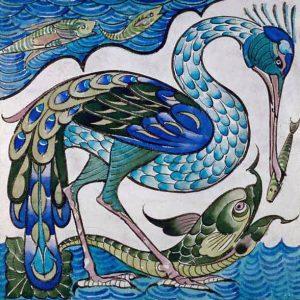Walter Crane  Heron and Fish