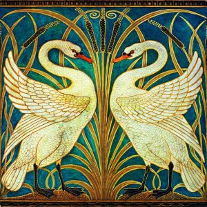 Walter Crane Swans Coloured
