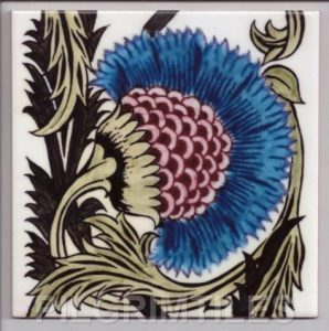 William De Morgan Arts & Crafts BBB Blue Tile