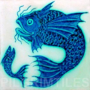 William De Morgan Blue Fish 003