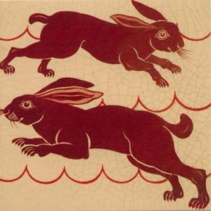 William De Morgan Rabbits Red