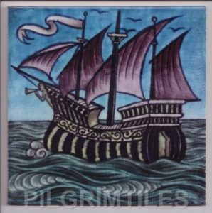 William De Morgan Coloured Galleon
