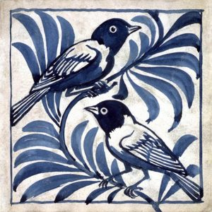 New William De Morgan Weaver Birds Blue
