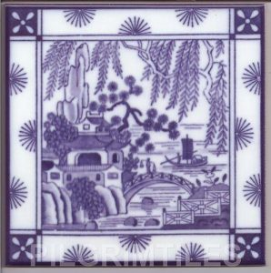 Willow Pattern Tile