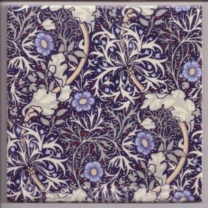 William Morris Seaweed Arts & Crafts blue