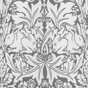 William Morris Brer Rabbit grey/white