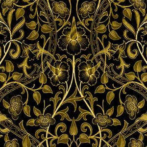 William Morris Daffodil Arts & Crafts Black