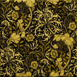William Morris Seaweed Arts & Crafts black