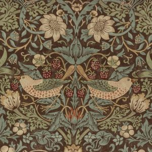 William Morris Strawberry Thief brown