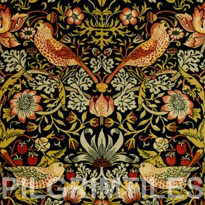 William Morris Strawberry Thief Black 3