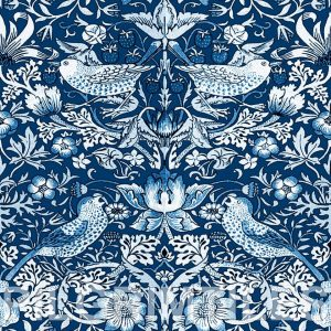 William Morris Strawberry Thief Blue and White