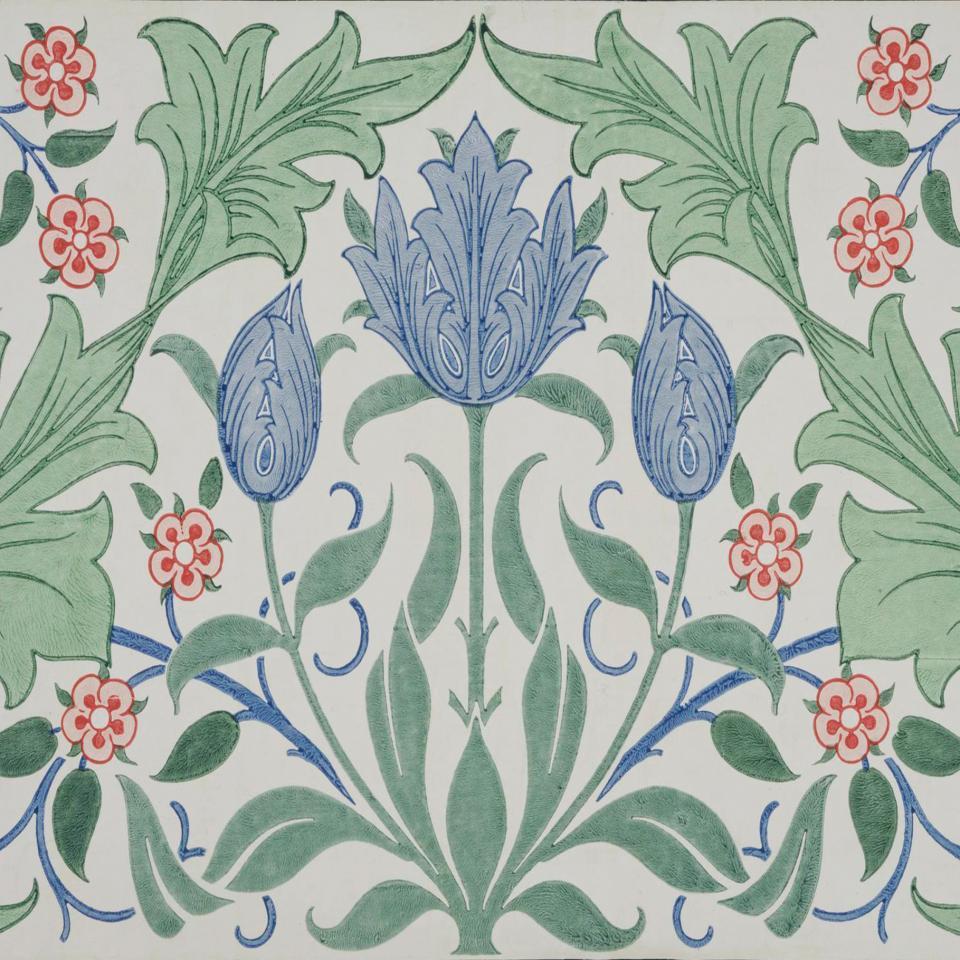 Metric Porcelain Tile William Morris Tulip Walls Floors Kitchens Bathroom ref 2