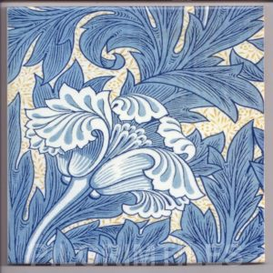 William Morris Tulip  Arts & Crafts blue