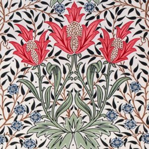 William Morris Tulip 2 Arts & Crafts Red