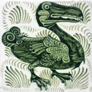 William De Morgan Dodo Tile