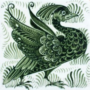 William De Morgan Exotic Bird Tile