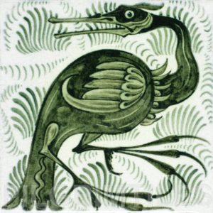 William De Morgan Long Billed Bird Tile
