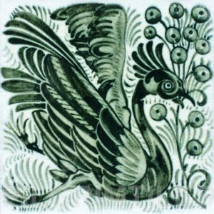 William De Morgan Exotic Bird and Fruit Tile