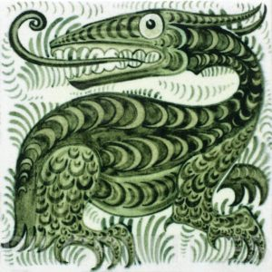 William De Morgan Long Tongued Beast Tile