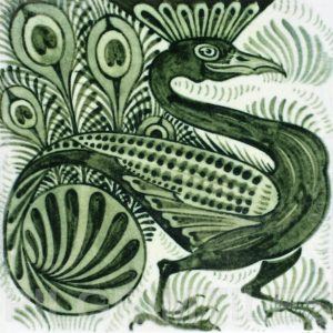 William De Morgan Peacock Tile