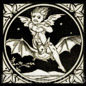Minton Elfin Arts and Crafts Tile ref 1