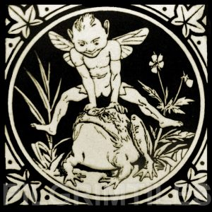 Minton Elfin Arts and Crafts Tile ref 10
