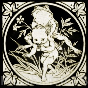 Minton Elfin Arts and Crafts Tile ref 5