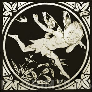 Minton Elfin Arts and Crafts Tile ref 6