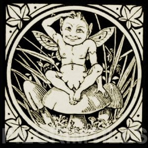 Minton Elfin Arts and Crafts Tile ref 7