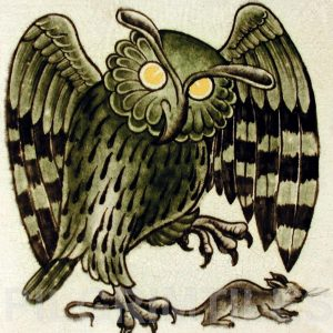 William De Morgan Owl Tile