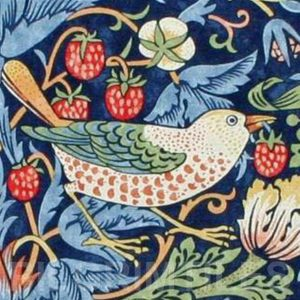 William Morris Strawberry Thief Bird Indigo