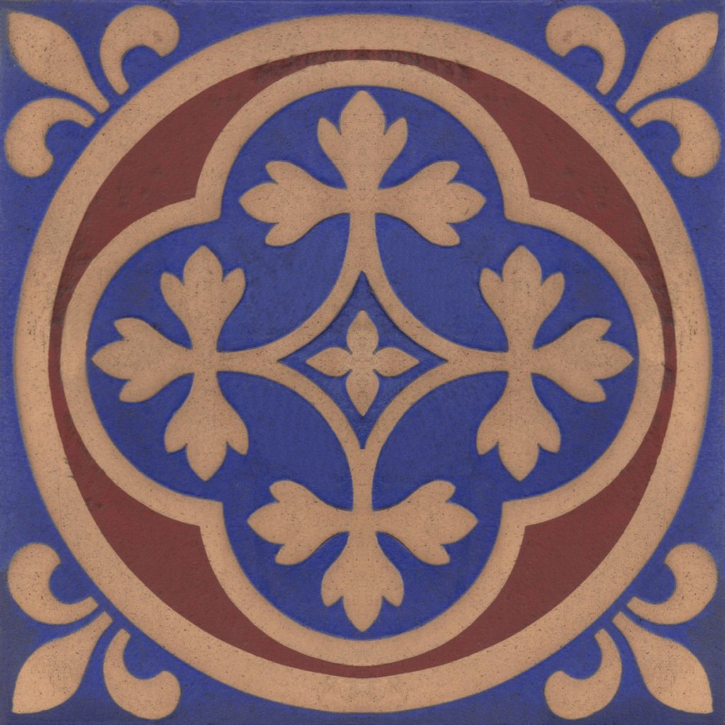 Gothic Pugin Style tile ref 009